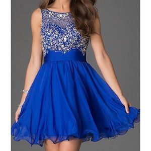 Dancing Queen Dresses - Royal blue dress